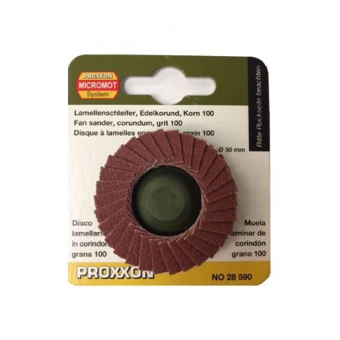 Disc lamelar frontal, pentru otel / fonta / lemn / plastic, Proxxon 28590, 50 mm, granulatie 100