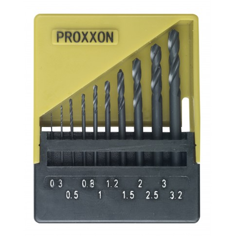 Burghiu pentru metal, Proxxon 28874, 0.3 - 3 mm, set 10 bucati