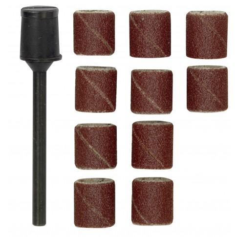 Tambur abraziv, pentru slefuire, cu corindon, Proxxon 28980, 10 mm, set 10 bucati