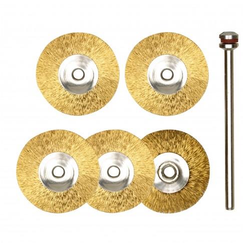 Disc cu perie de bronz, 22 mm, Proxxon, set 5 bucati