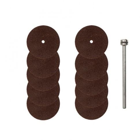 Disc debitare metale, din corindon, Proxxon 28810, 22 mm, set 10 bucati
