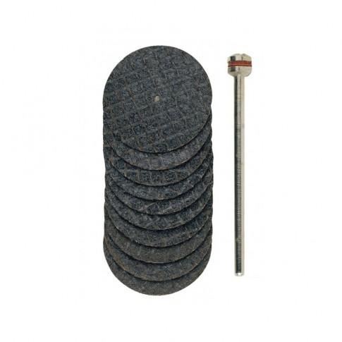 Disc debitare metale neferoase, din oxid de aluminiu, Proxxon 28808, 22 mm, set 10  bucati