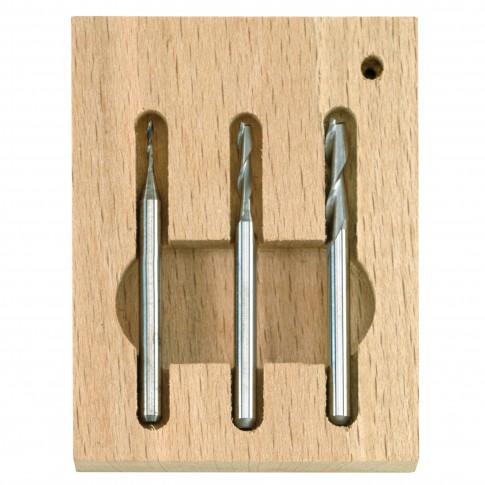 Freza tungsten, Proxxon 27116, 1-2-3 mm, set 3 bucati