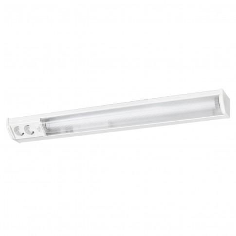Corp de iluminat pentru baie cu priza si intrerupator Bath 2323, 1 x G13, T8, 18W, lumina calda