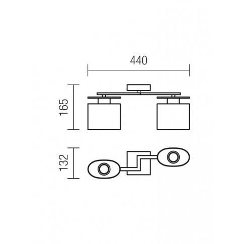 Plafoniera tip lustra Shape 01-1028, 2 x E14