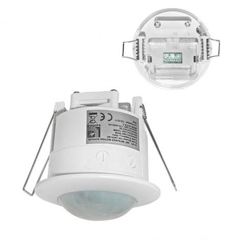 Senzor miscare infrarosu Adeleq 00-5491, interior (IP20), alb, 360 grade, incastrat
