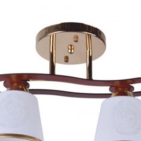 Plafoniera tip lustra Cup Ly 3076, 2 x E27, auriu + maro + alb