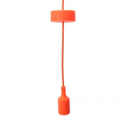 Suspensie Silicone LY 6048, 1 x E27, orange