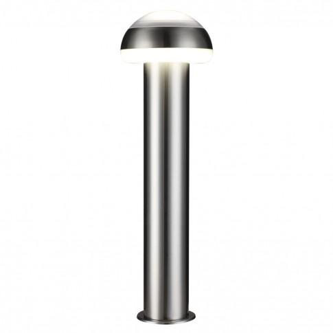 Stalp de iluminat ornamental Otawa 4 KL 6262, LED, 11W, lumina neutra, H 76 cm, argintiu