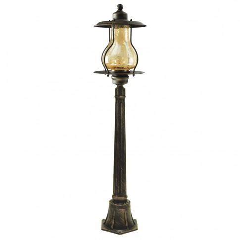 Stalp de iluminat ornamental Kingston 4 KL 6230, 1 x E27, H 120 cm, maro antic