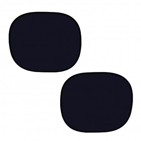 Parasolar auto, pentru geamuri laterale, VGT, static, negru, 36 x 44 cm, set 2 bucati