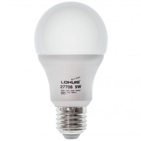 Bec LED Lohuis clasic A60 E27 9W 900lm lumina rece 6500 K, dimabil