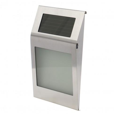Aplica solara LED Hoff TH008B, gri, IP44
