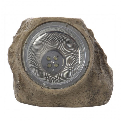 Lampa solara LED Hoff, forma piatra, H 12.5 cm