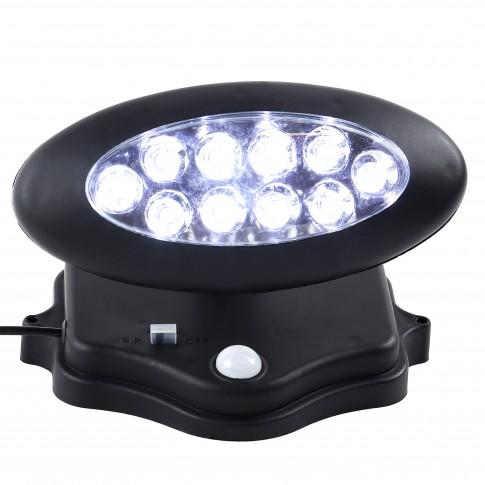 Reflector solar LED Hoff, 0.14W, 25lm, negru, IP44
