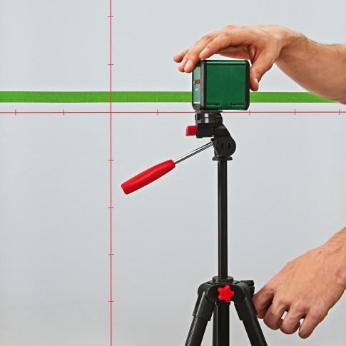 Nivela cu laser, cu linii in cruce, Bosch Quigo Plus, cu autonivelare, cu stativ