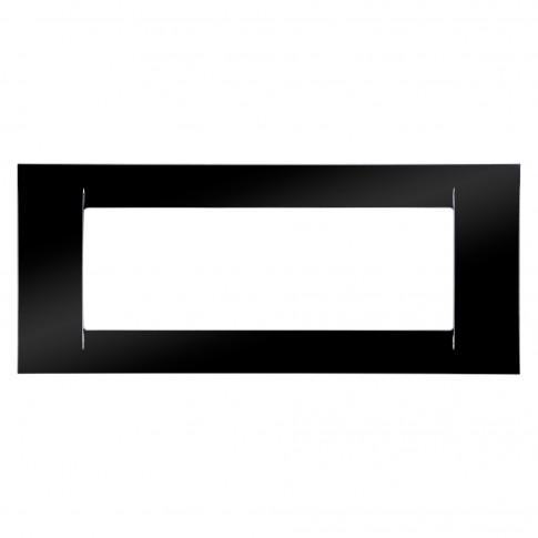 Rama Gewiss Virna GW22116, 6 module, neagra, pentru priza / intrerupator