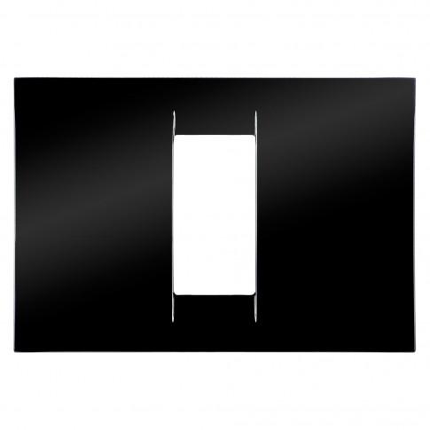 Rama Gewiss Virna GW22111, 1 modul, neagra, pentru priza / intrerupator