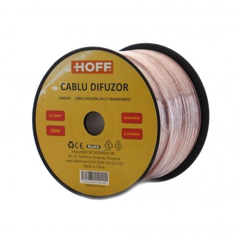 Cablu difuzor 2 x 1.5 mmp Hoff, transparent