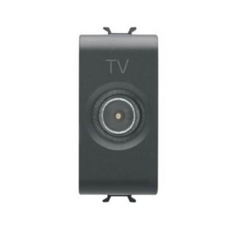 Priza TV de trecere Chorus GW12362-1BL, modulara - 1 m, negru