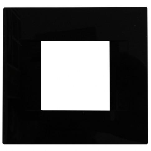Rama Gewiss Chorus Geo GW16422TN, 2 module, neagra, pentru priza / intrerupator