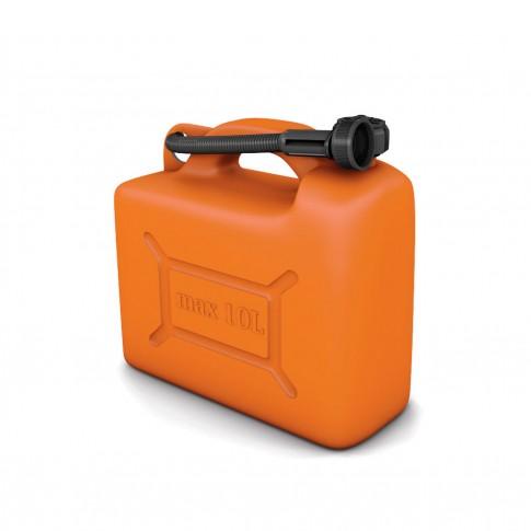 Canistra din plastic, pentru combustibil, Jolie, 10 L + palnie