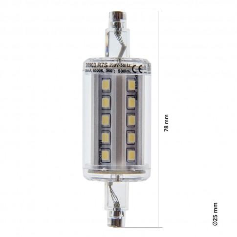Bec LED Lohuis liniar J78 R7S 5W 500lm lumina rece 6500 K