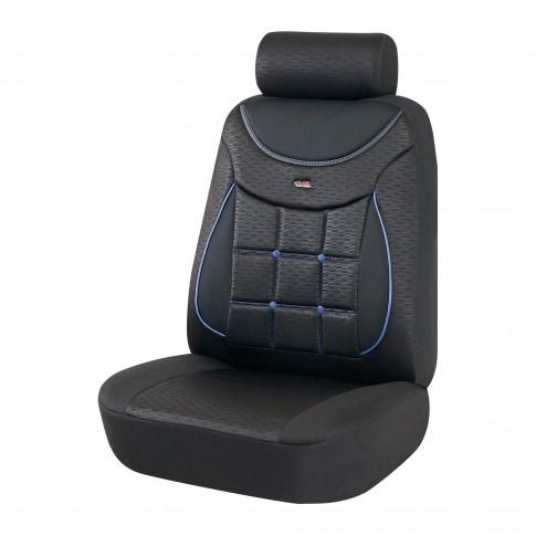 Huse auto pentru scaun, Otom Silver 613, universale, negru + albastru, set 11 piese