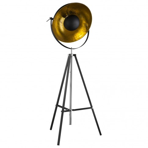 Lampadar Xirena 58286, 1 x E27, 1800 mm, negru + auriu