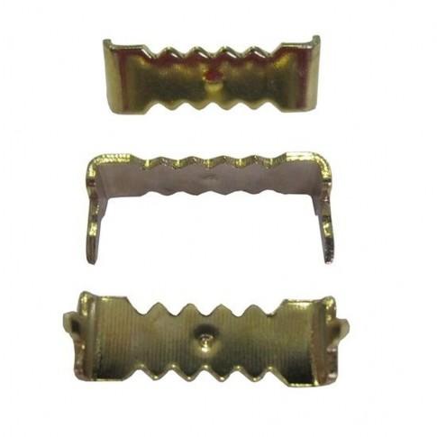 Agatator cu dinti, pentru tablou, otel, zincat auriu, 25 x 6 mm + cuie