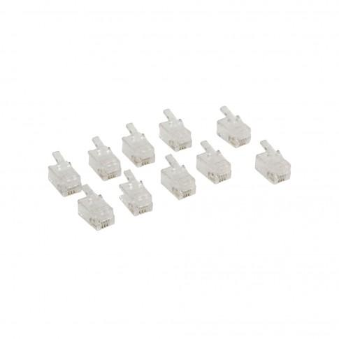 Conector RJ10 VLTP90913T - set 10 buc