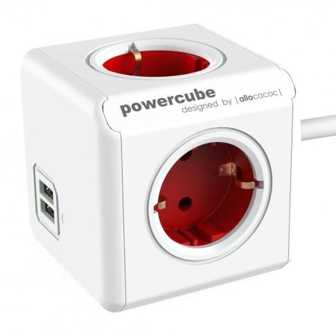 Prelungitor PowerCube 4 prize + 2 USB, 1.5 m