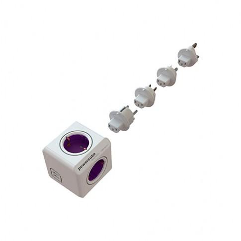 Adaptor PowerCube REV/2USB/TP-ALC 4 prize + 2 USB + 4 mufe adaptoare