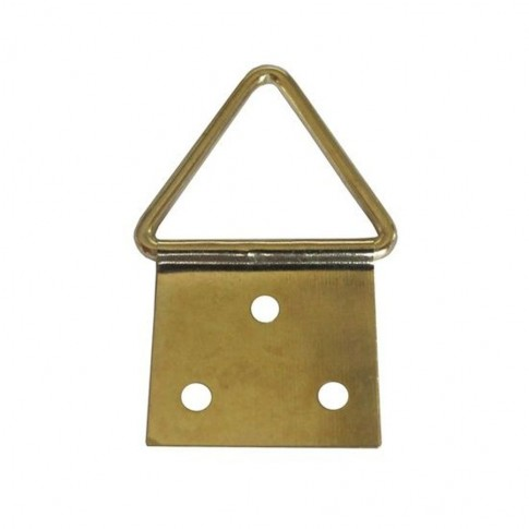 Agatatori pentru tablou, alama, zincat auriu, 13 x 6 mm, set 10 bucati