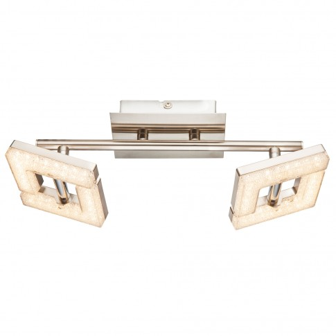 Plafoniera LED Emma 56118-2, 2 x 4W, lumina calda, nichel mat