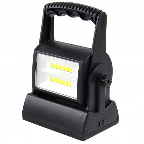 Proiector LED Hoff, portabil, 2 x 3W, unghi ajustabil, 2 trepte de luminozitate, alimentare baterii