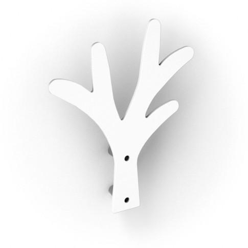 Cuier pentru mobila, metalic, forma copac, alb