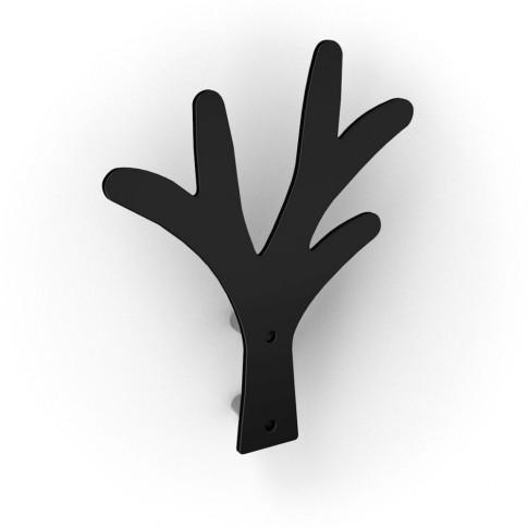Cuier pentru mobila, metalic, forma copac, negru