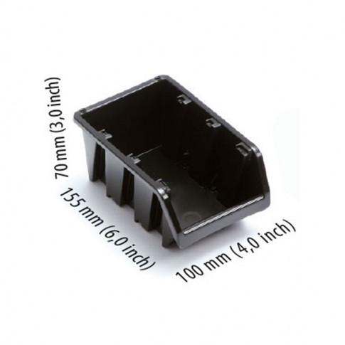 Cutie pentru depozitare, Ecobox NP6-S411, negru, 155 x 100 x 70 mm