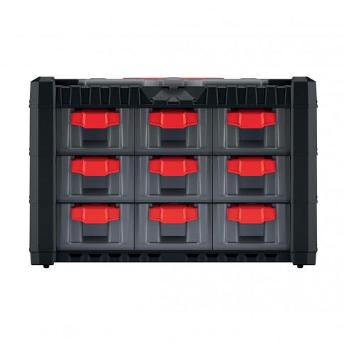 Cutie pentru scule, cu 9 sertare, Kistenberg KMC303, 400 x 200 x 260 mm