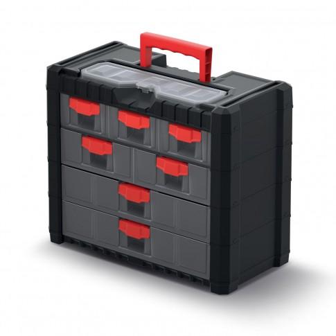 Cutie pentru scule, cu 7 sertare, Kistenberg KMC401, 400 x 200 x 326 mm