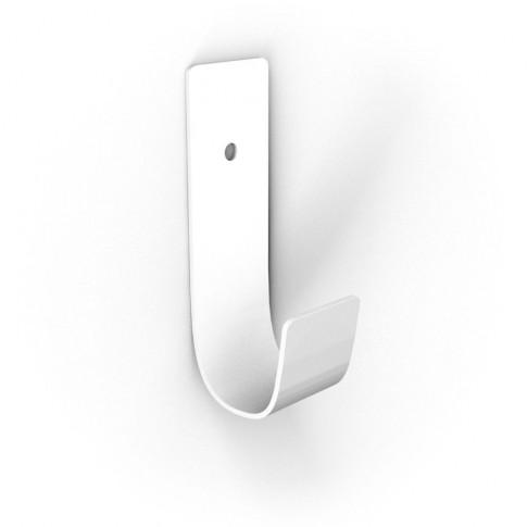 Cuier pentru mobila, din metal, Jolly, alb, cu 1 agatatoare