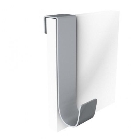 Cuier pentru mobila, din metal, Double, argintiu, cu 1 agatatoare