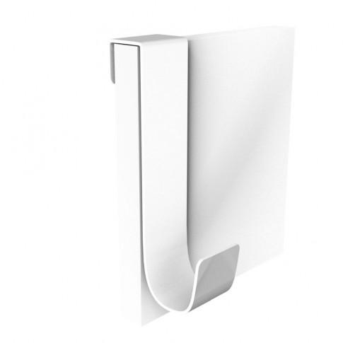 Cuier pentru mobila, din metal, Double, alb, cu 1 agatatoare