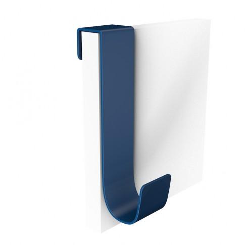 Cuier pentru mobila, din metal, Double, albastru, cu 1 agatatoare