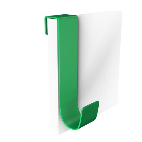 Cuier pentru mobila, din metal, verde, cu 1 agatatoare