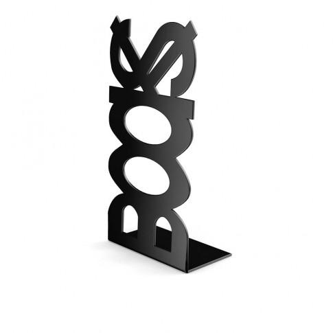 Consola decorativa, din metal, Books, neagra, 120 mm