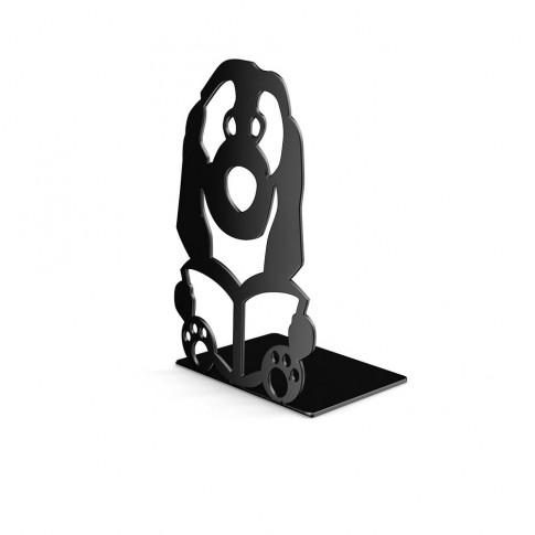 Consola decorativa, din metal, Catel, neagra, 126 mm