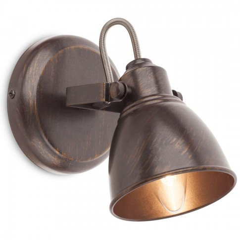Aplica Thor 04-140, 1 x E14, maro cu patina aur
