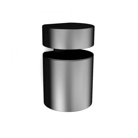 Consola decorativa, din zamac, Basket, neagra, 50 - 71 mm, set 2 bucati